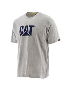 Cat® T-Shirt Logo Tee grau