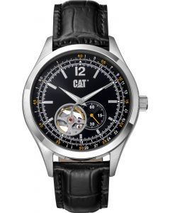 Cat® Armbanduhr 1904 auto black / yellow