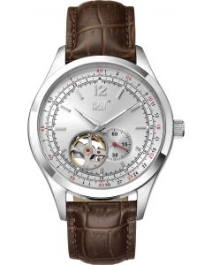 Cat® Armbanduhr 1904 auto silver / red